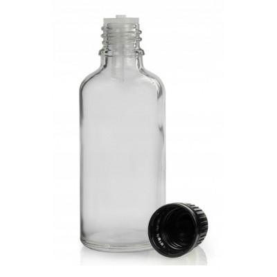 Butelka szklana z KROPLOMIERZEM czarnym 100ml