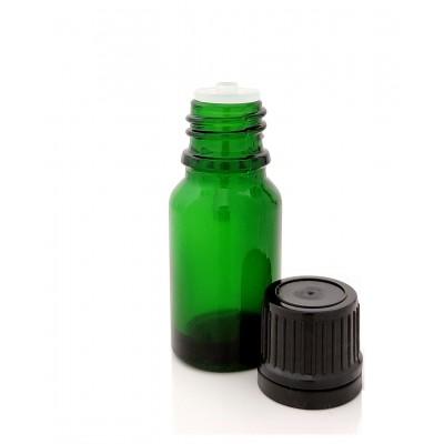 Butelka szklana zielona z KROPLOMIERZEM czarnym 10ml