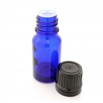 Butelka szklana niebieska z KROPLOMIERZEM czarnym 10ml