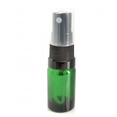Butelka szklana zielona z ATOMIZEREM czarnym 10ml