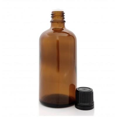 Butelka szklana brązowa z KROPLOMIERZEM czarnym 100ml