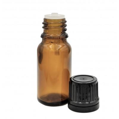 Butelka szklana brązowa z KROPLOMIERZEM czarnym  10ml